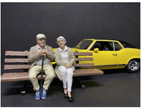 Sitting Old Couple 2 Piece Figurine Set For 1 18 Scale Models By American