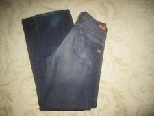 CITIZENS OF HUMANITY 'RELAX ZIP FLY ' STRAIGHT LEG COTTON BLUE DENIM JEANS 33x33