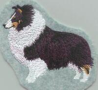TRI COLOR SHELTIE  Dog Gorgeous Bathroom Set HAND TOWELS EMBROIDERED