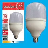 1x 45W (=250W) T120 LED Light Bulb 4000K Cool White Edison Screw ES E27/GES E40