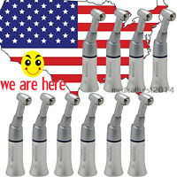 10X Dental Handpiece Slow Low Speed Push Button Contra Angle w Latch Bur FIT NSK