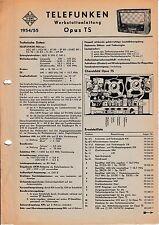 Service Manual-Anleitung für Telefunken Opus TS