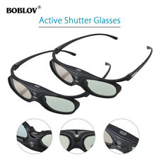 2x 3D Active Shutter Brille DLP-Link Schwarz Für BenQ W1070 W700 MS506 Projektor