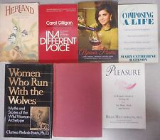 Myth of Goddess Women Who Run With Wolves Herland Wine Pleasure Feminism 7 books