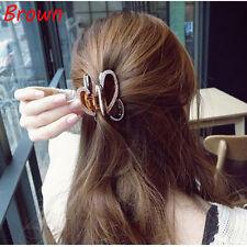 2017 Women Elegant Hair Claw Acrylic Full Diamond Butterfly Hairpin Hair Clip Brown