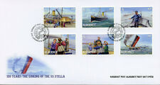 Alderney 2019 FDC Sinking of SS Stella 120 Yrs 6v Set Cover Boats Ships Stamps