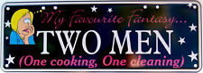 My Favourite Fantasy - Two Men Novelty Number Plate
