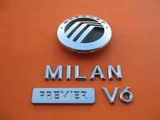 06 07 08 09 MERCURY MILAN PREMIER V6 REAR TRUNK LID EMBLEM LOGO BADGE SIGN SET 2