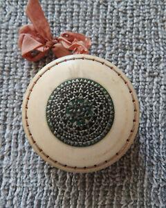 Antique Hand Carved Mosaic Vizagatapam Sadeli Pinwheel