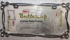Bell Chrome Buttercup License Plate Frame Chrome Die-cast Metal Frame 46569-8
