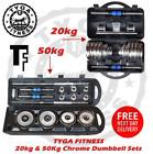 TYGA Fitness TF 20kg 50kg Adjustable Cast Iron Dumbbells Set Weight Plate Gym