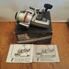Vintage 1982 Zebco Lancer 4050 Skirted Spool Spinning Reel W/Box - Brunswick