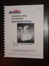 Sunnen VGS-20 Seat & Guide Machine Instruction Manual