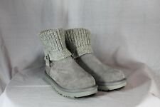 UGG Australia Saela Rib Knit Cuff Women's Boots In Gray 1020148 Size 5