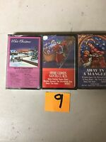 (3) NEW SEALED Assorted Christmas Music Cassette Tapes  (G) (9)