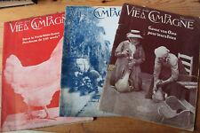 LA VIE A LA CAMPAGNE - 3 revues 1923 - ed. Hachette - Oies, poules, canards...