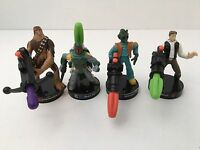 Star Wars 2005 LFL Game Pieces Han Solo Boba Fett Greedo Chewbacca Lot Of 4