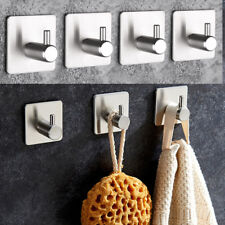Stainless Steel Wall Hook Kitchen Bathroom Shower Towel Strong Sticker Cup Hook