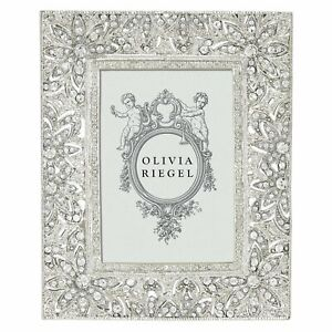 """OLIVIA RIEGEL SILVER WINDSOR 2.5X3.5"""" PHOTO FRAME RT1735.NEW IN BOX."""