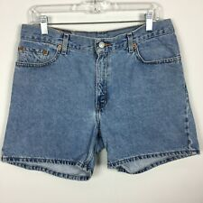 Levis M Medium Denim Jean Shorts 555 Mid Wash Front Zip Pure Cotton
