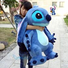 Giant Hung Lilo & Stitch toy Stuffed Plush Soft Blue Pillow Valentine gift 35''