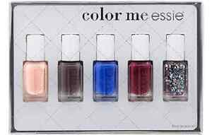 Color Me Essie 5 Piece Mini Nail Polish Set Holiday 2014 Smokin Hot Madamoiselle