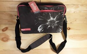 """Golla Genmob 16"""" Laptop Sling Sleeve Messenger Style Bag Dark Gray with Pink NWT"""