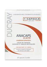 DUCRAY ANACAPS TRI-ACTIV 30 CAPS Anti-cheveux perte TOUT WORLD