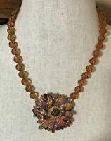 Heidi Daus Fantastical Fall Crystal Necklace Fabulous Colors!! NWT RET $220