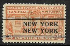 """New York NEW YORK"" Precancel SON 15 Cent Special Delivery BOB 10B81"