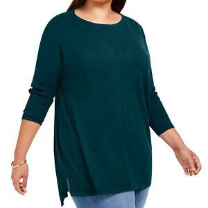 Style & Co. Women's Top Tunic sweater huntress green plus size 2X