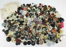 Vintage Sewing Buttons Estate Sale Mix 1 Pound 13 Ounces Plastic Mother of Pearl