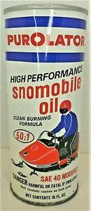 Vintage Metal Purolator Motor Oil, Snowmobile Oil Can
