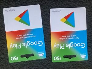 GOOGLE PLAY GIFT CARD $100.00 VALUE. NEW NOT SCRATCHED