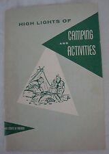 Vintage 1958 Highlights Camping & Activities Booklet Boy Scouts BSA Dist Comm