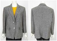 Womens Basler Blazer Jacket Grey Tweed Nylon Cotton Blend Size 46 / UK20