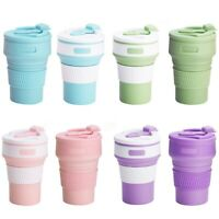 350ML Collapsible Silicone Cup Coffee Mug Reusable Travel Portable Cup Mbyss