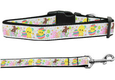 Mirage Happy Easter Nylon Dog Collars and Leash Combo