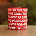 100 Live Drug Free Wristbands - Anti Drug Bracelets - Drugs are Not For Me Bands
