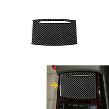 Carbon Fiber Console Water Cup Holder Panel Decor Trim Fit For Audi A6 2005-2011
