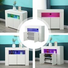 LED Light TV Unit Cabinet Sideboard Cupboard High Matt Body Gloss Doors Corner
