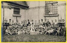 cpa Carte Photo SOLDATS MILITAIRE du 153e Régiment Mort du Père Cent Déguisement