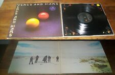 WINGS - Venus And Mars ORG LP US Paul McCartney Beatles W/2 Posters NM