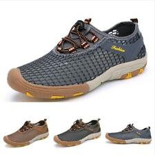 Casuals Shoes Men Outdoor Hiking Mid Top Trail Sneaker Mesh Breathable Athletic