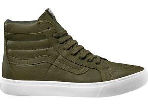 Vans Ankle Shoe Leather Shoe Skate Shoes Green SK8-Hi Cup Leather