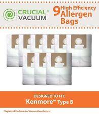9 Kenmore Vacuum B Bags Fits 24196 & 20-24196 # 24196, 20-24196 & 634875 85003