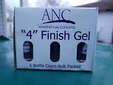 "Anc Finish Gel Dip Powder System Step ""4"" 0.5 oz ea lot 6 amazing nail concepts"