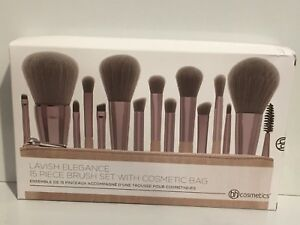 BH Cosmetics - Lavish Elegance - 15 Piece Brush Set With Cosmetic Bag