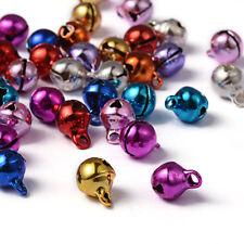 20 Mini Glocken Weihnachten Glöckchen Schellen mit Klang gemischt Bunt (1087)