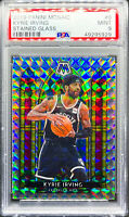 Kyrie Irving 2019-2020 Panini Mosaic Stained Glass PSA 9 Mint Brooklyn Nets #6